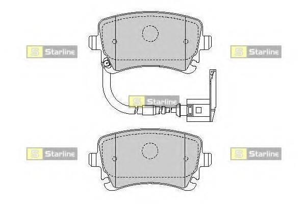 Комплект тормозных колодок, дисковый тормоз STARLINE BD S826P