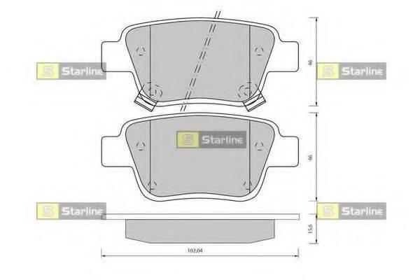 Комплект тормозных колодок, дисковый тормоз STARLINE BD S834P