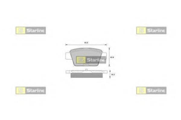 Комплект тормозных колодок, дисковый тормоз STARLINE BD S836P