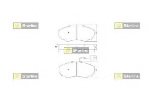 Комплект тормозных колодок, дисковый тормоз STARLINE BD S839P
