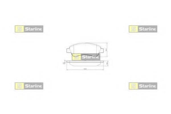Комплект тормозных колодок, дисковый тормоз STARLINE BD S842P