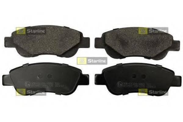 Комплект тормозных колодок, дисковый тормоз STARLINE BD S843P