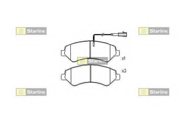 Комплект тормозных колодок, дисковый тормоз STARLINE BD S846P