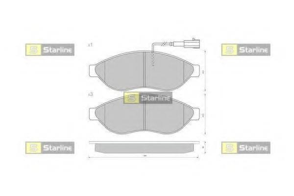 Комплект тормозных колодок, дисковый тормоз STARLINE BD S847P