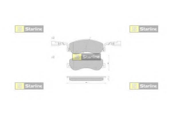 Комплект тормозных колодок, дисковый тормоз STARLINE BD S848P