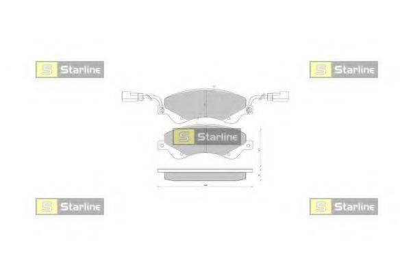 Комплект тормозных колодок, дисковый тормоз STARLINE BD S849P