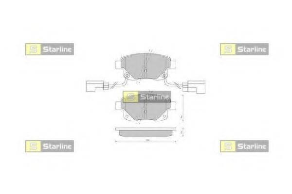 Комплект тормозных колодок, дисковый тормоз STARLINE BD S850P