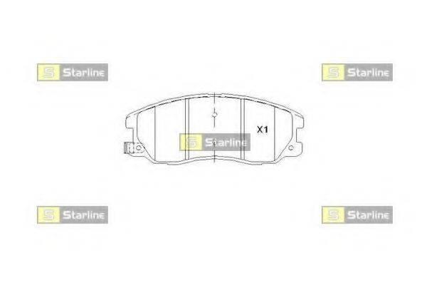 Комплект тормозных колодок, дисковый тормоз STARLINE BD S852P