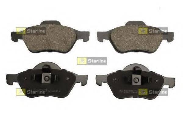 Комплект тормозных колодок, дисковый тормоз STARLINE BD S853P