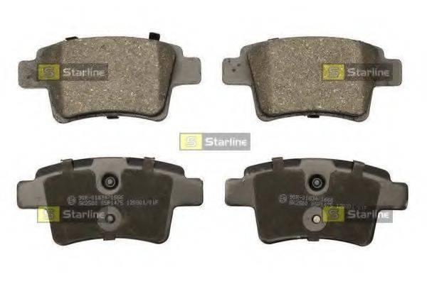 Комплект тормозных колодок, дисковый тормоз STARLINE BD S854P