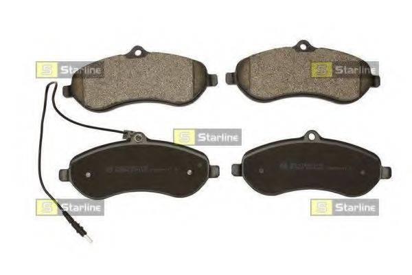 Комплект тормозных колодок, дисковый тормоз STARLINE BD S855P