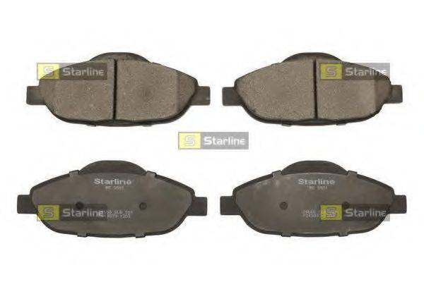 Комплект тормозных колодок, дисковый тормоз STARLINE BD S856P