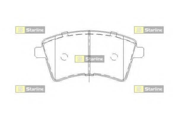 Комплект тормозных колодок, дисковый тормоз STARLINE BD S857P