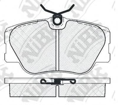 Комплект тормозных колодок, дисковый тормоз NIBK PN0001