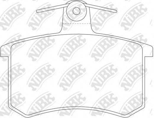Комплект тормозных колодок, дисковый тормоз NIBK PN0017