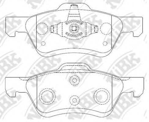 Комплект тормозных колодок, дисковый тормоз NIBK PN0071