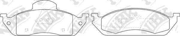 Комплект тормозных колодок, дисковый тормоз NIBK PN0116