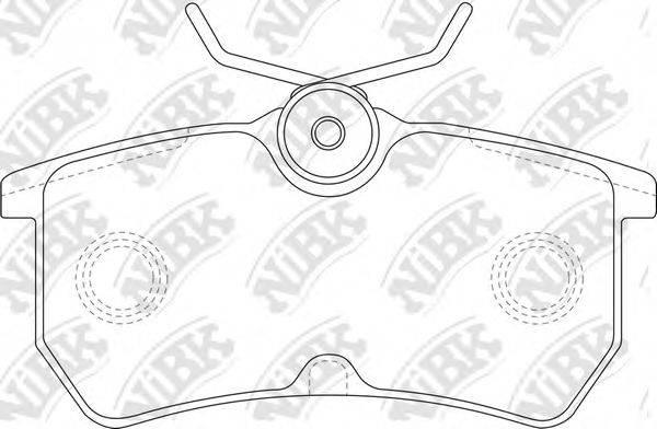 Комплект тормозных колодок, дисковый тормоз NIBK PN0120