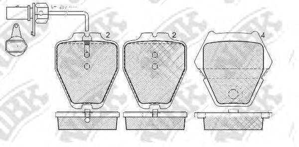 Комплект тормозных колодок, дисковый тормоз NIBK PN0138W