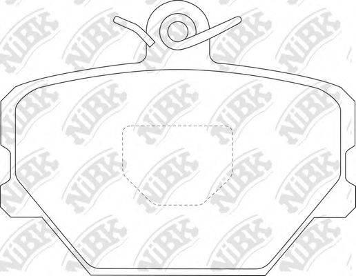 Комплект тормозных колодок, дисковый тормоз NIBK PN0139