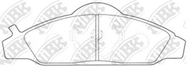 Комплект тормозных колодок, дисковый тормоз NIBK PN0145