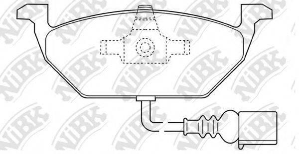 Комплект тормозных колодок, дисковый тормоз NIBK PN0148W