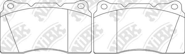 Комплект тормозных колодок, дисковый тормоз NIBK PN0150