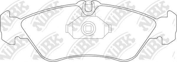 Комплект тормозных колодок, дисковый тормоз NIBK PN0169