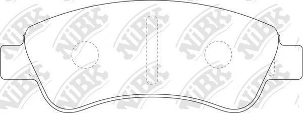 Комплект тормозных колодок, дисковый тормоз NIBK PN0182