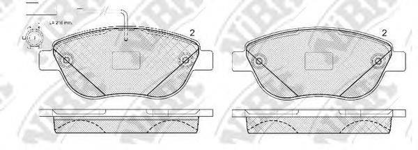 Комплект тормозных колодок, дисковый тормоз NIBK PN0187W