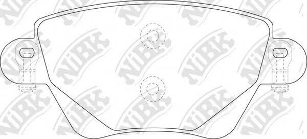 Комплект тормозных колодок, дисковый тормоз NIBK PN0194