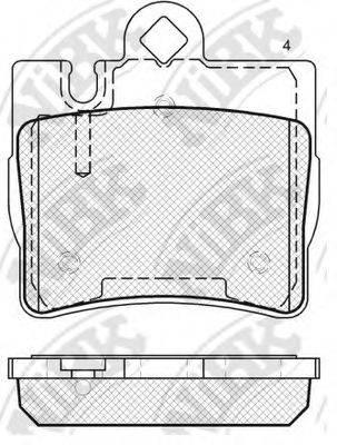 Комплект тормозных колодок, дисковый тормоз NIBK PN0200W