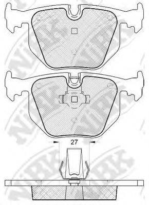 Комплект тормозных колодок, дисковый тормоз NIBK PN0225