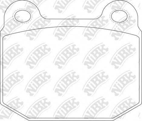 Комплект тормозных колодок, дисковый тормоз NIBK PN0226
