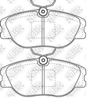Комплект тормозных колодок, дисковый тормоз NIBK PN0256