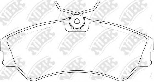 Комплект тормозных колодок, дисковый тормоз NIBK PN0266