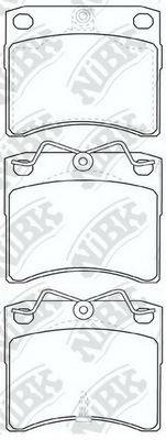 Комплект тормозных колодок, дисковый тормоз NIBK PN0278