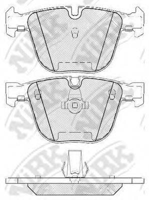 Комплект тормозных колодок, дисковый тормоз NIBK PN0326