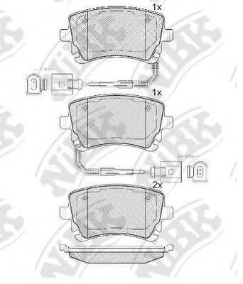 Комплект тормозных колодок, дисковый тормоз NIBK PN0330W