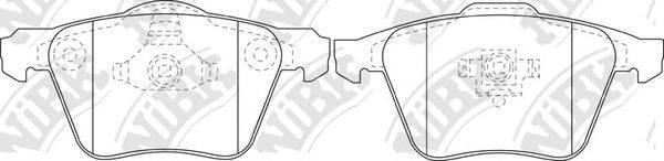 Комплект тормозных колодок, дисковый тормоз NIBK PN0352