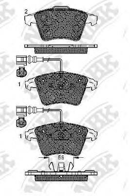 Комплект тормозных колодок, дисковый тормоз NIBK PN0353W