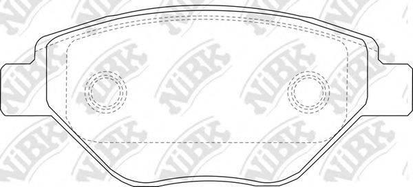 Комплект тормозных колодок, дисковый тормоз NIBK PN0362
