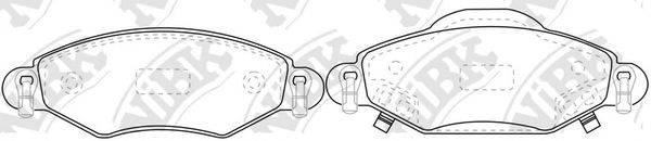 Комплект тормозных колодок, дисковый тормоз NIBK PN0369