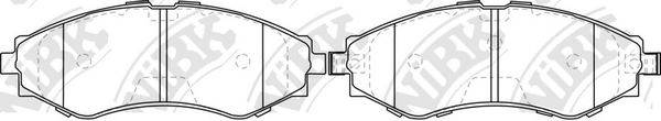 Комплект тормозных колодок, дисковый тормоз NIBK PN0374