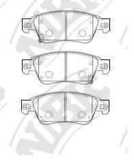 Комплект тормозных колодок, дисковый тормоз NIBK PN0388