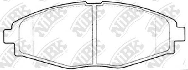 Комплект тормозных колодок, дисковый тормоз NIBK PN0390