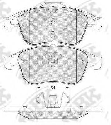Комплект тормозных колодок, дисковый тормоз NIBK PN0393