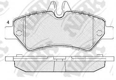 Комплект тормозных колодок, дисковый тормоз NIBK PN0412