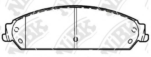 Комплект тормозных колодок, дисковый тормоз NIBK PN0421