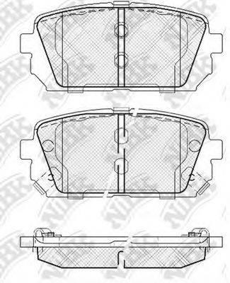 Комплект тормозных колодок, дисковый тормоз NIBK PN0426